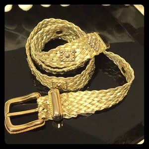 Accessories - Gilded gold woven square studded classy #7D